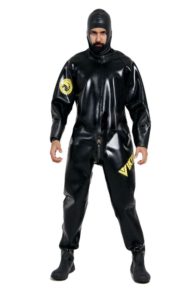 Heavy rubber drysuit