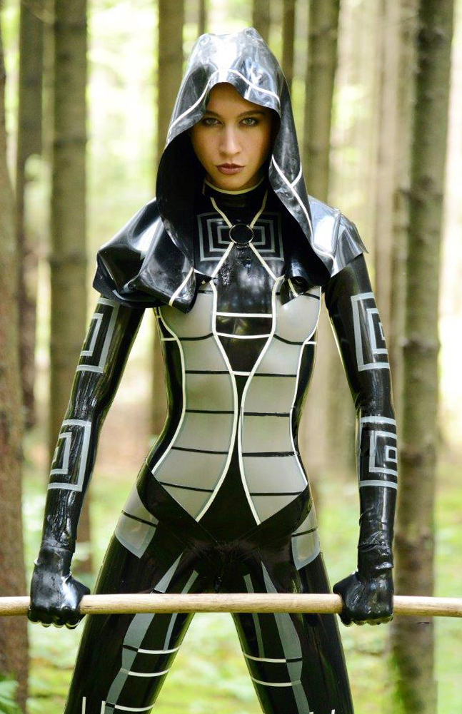 Mass Effect Kasumi Latex Costume
