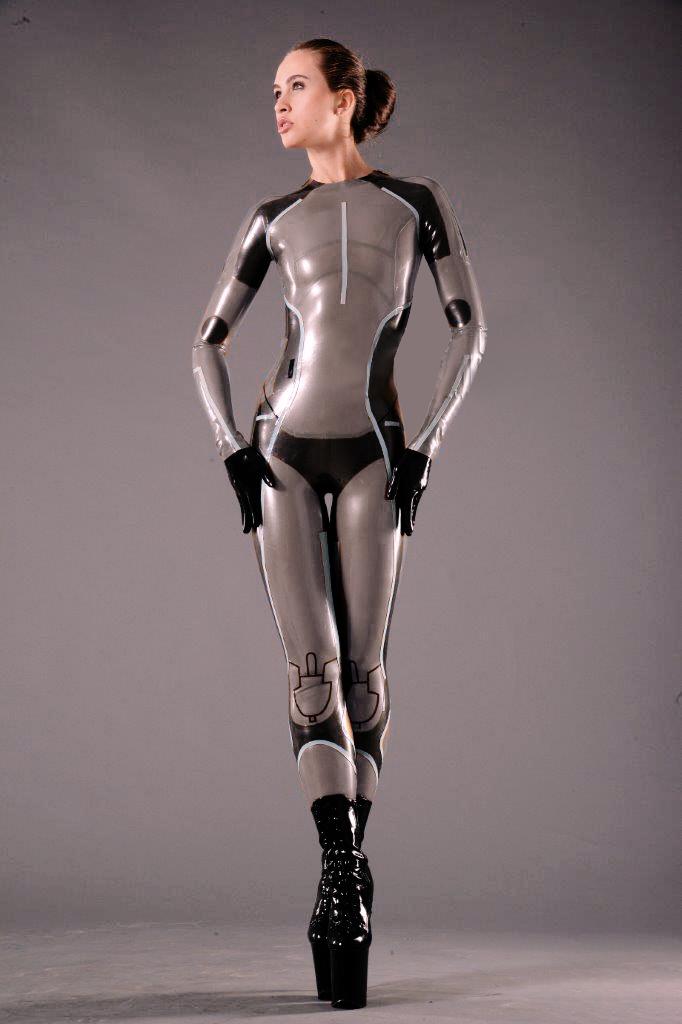 Tron Lady Latex Costume