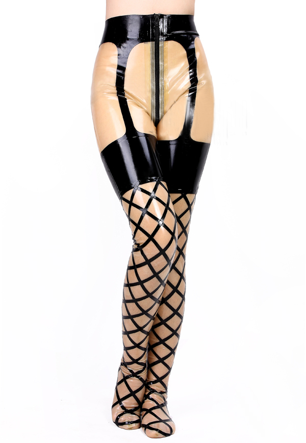 Large Loop Fishnet Gartered Legging
