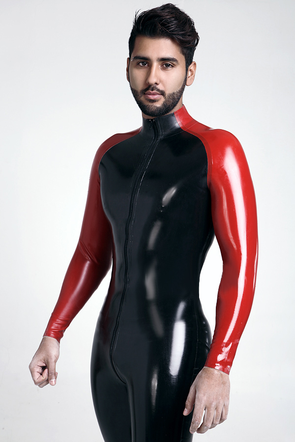 Long Sleeved Jersey High Neck Catsuit