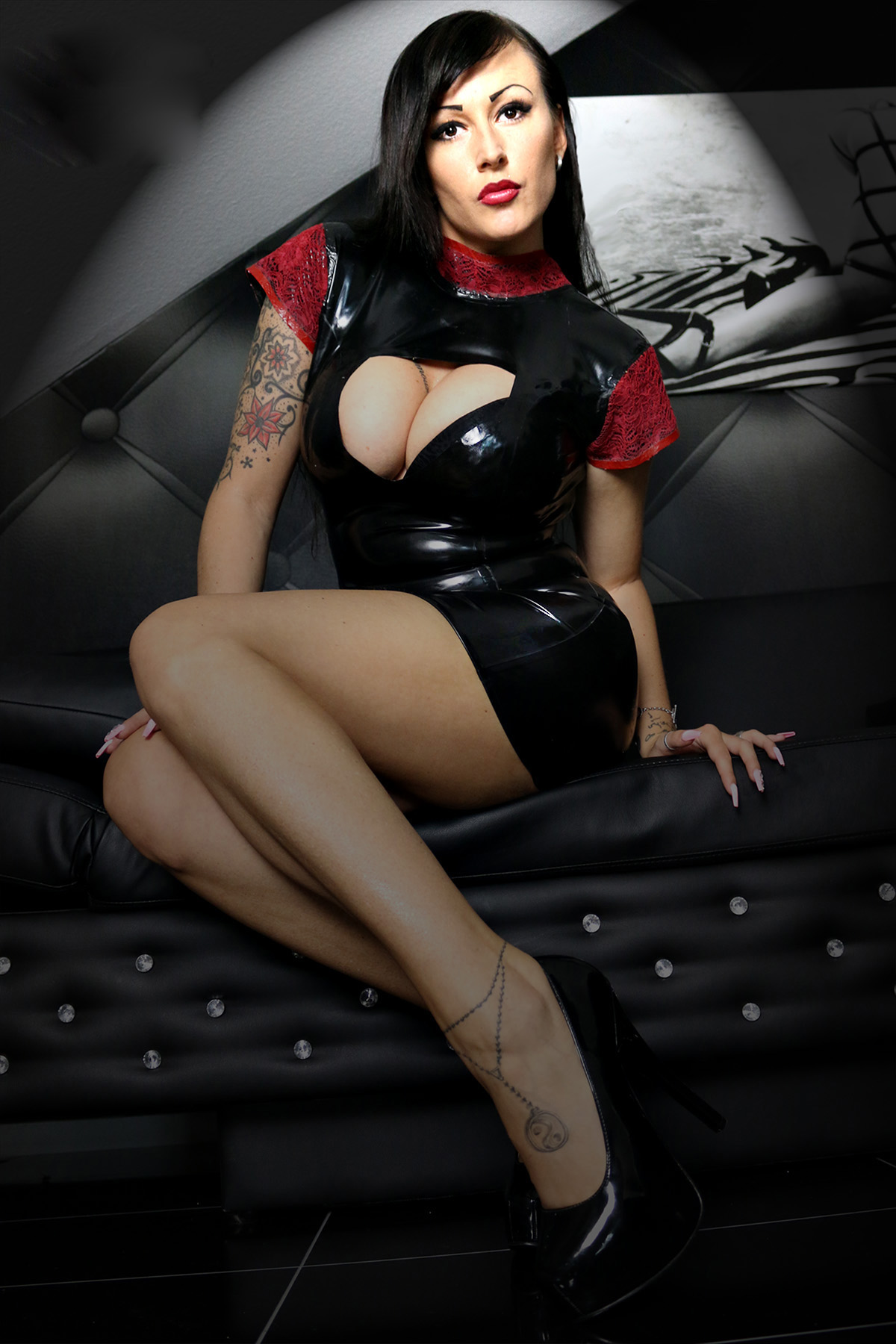 Latex Dress Sexy Lady Love