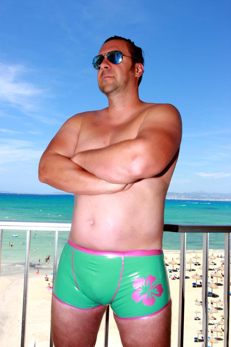 Latex Shorts Beach Boy