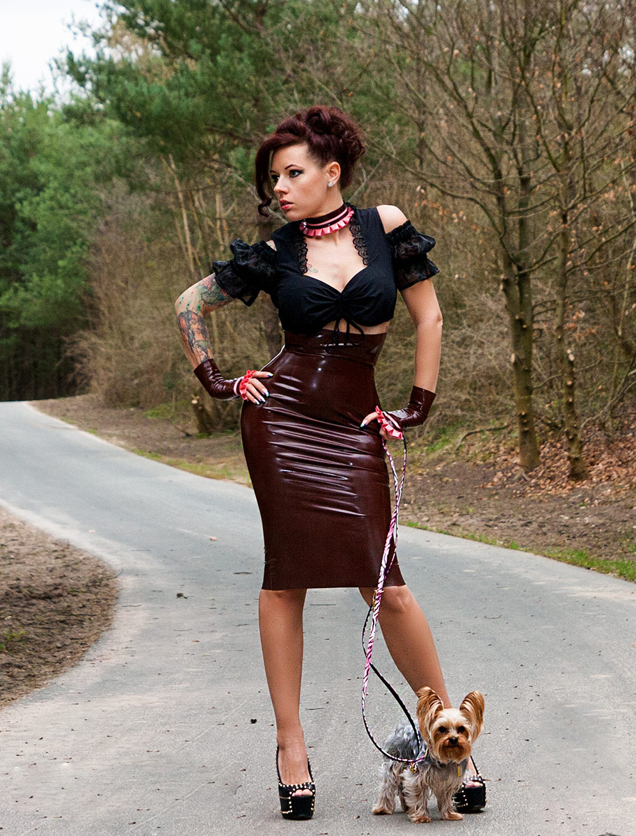 Billy King Latex Skirt